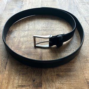 J.Crew Italian Leather Dress Belt in Black